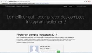 pirater mot de passe d'un Compte Instagram